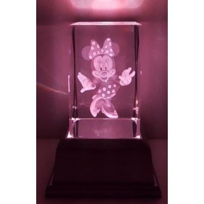 3D Inscribed Minnie Crystal Light