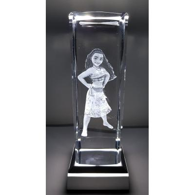 3D Inscribed Large Moana Crystal Light