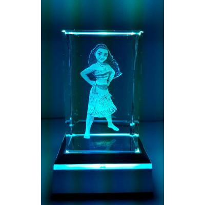 3D Inscribed Small Moana Crystal Light