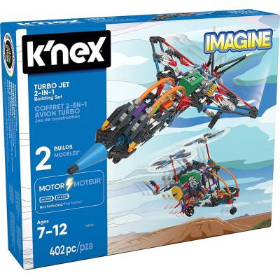Knex Turbo Jet 2-In-1 Motorized Building Set
