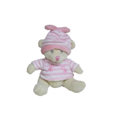 Baby Girl Snookims Mini Rattle Teddy
