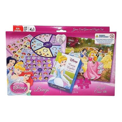 Disney Princess Game, Card Game & Puzzle Set