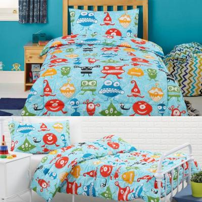 Dreamaker Kids Robo-t Single Bed Quilt Cover Set