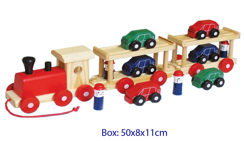 Fun Factory Wooden Car Transporter
