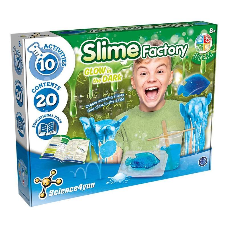 Science4you Slime Factory Glow In The Dark
