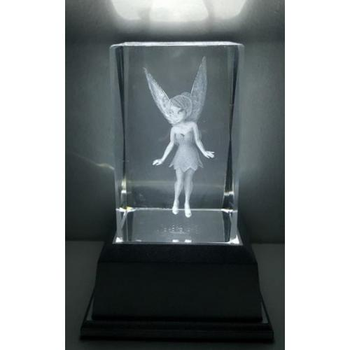 3D Inscribed Fairy Crystal Light