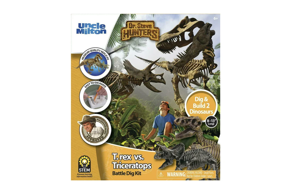 Dr. Steve Hunters T.Rex Vs Triceratops Battle Dig Kit