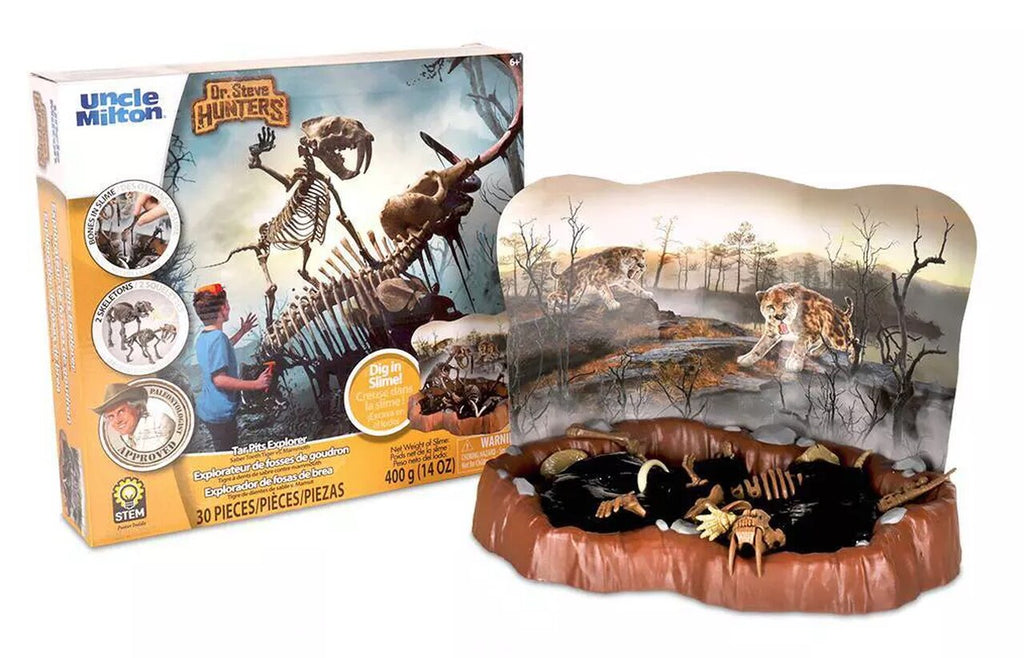 Dr. Steve Hunters Tar Pits Explorer Saver Tooth Tiger Vs Mammoth