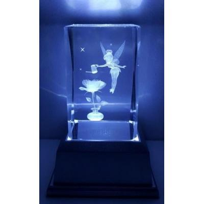 3D Inscribed Water Can Fairy Crystal Light