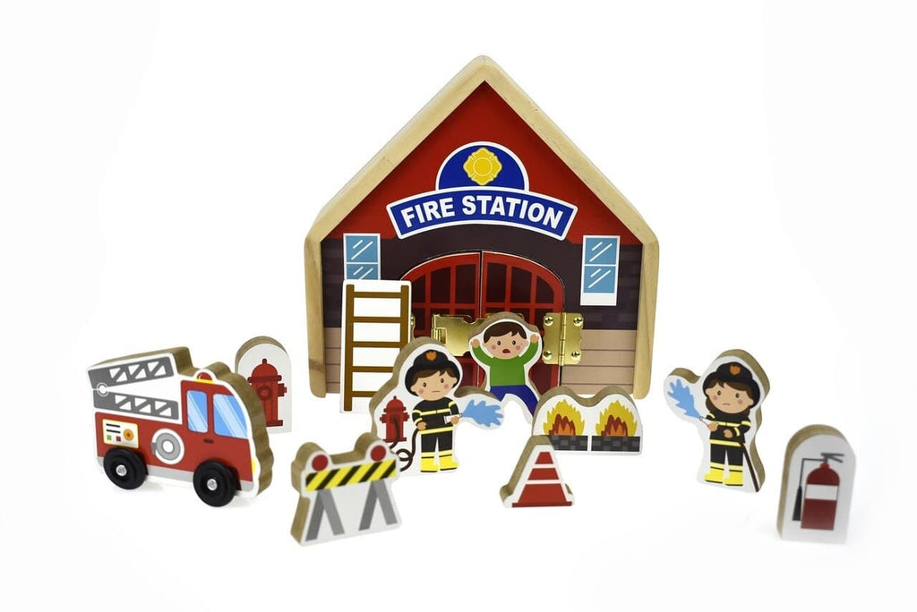 Kaper Kidz Metal Latch Playset-Fire Station