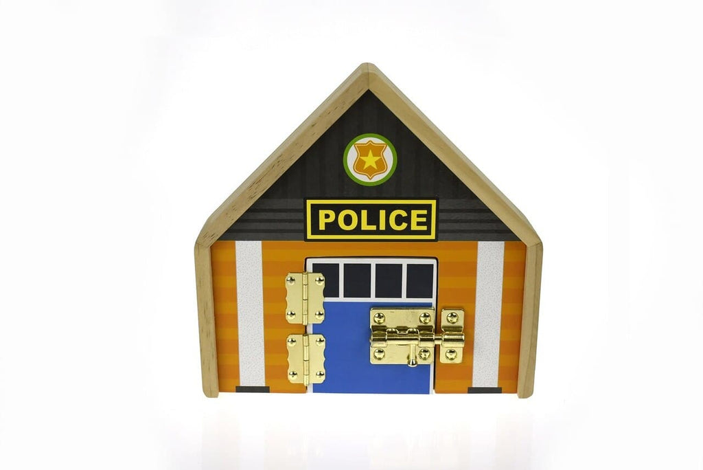 Kaper Kidz Metal Latch Playset-Police