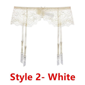 Sexy women lace Black/white/red brand garter