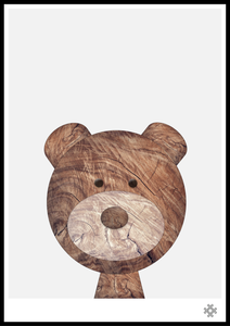 Baby Wood Bear Poster