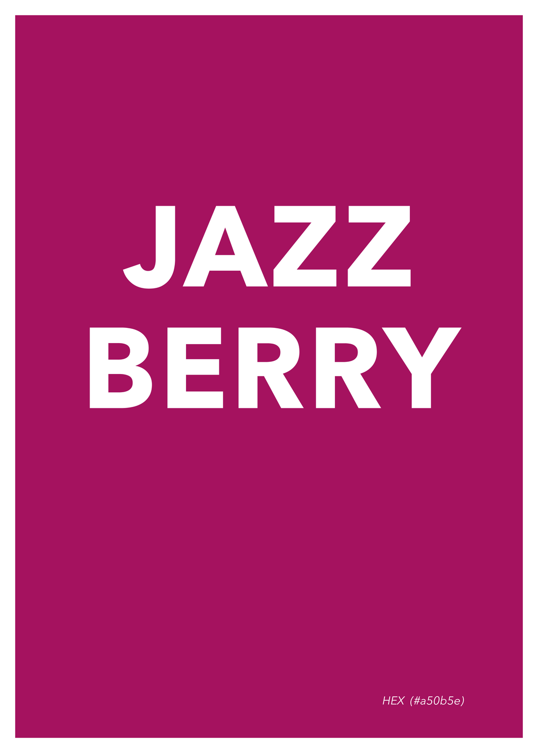 Jazzberry Poster