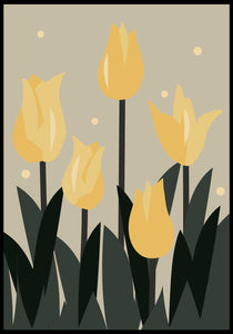 Yellow tulip abstract flower