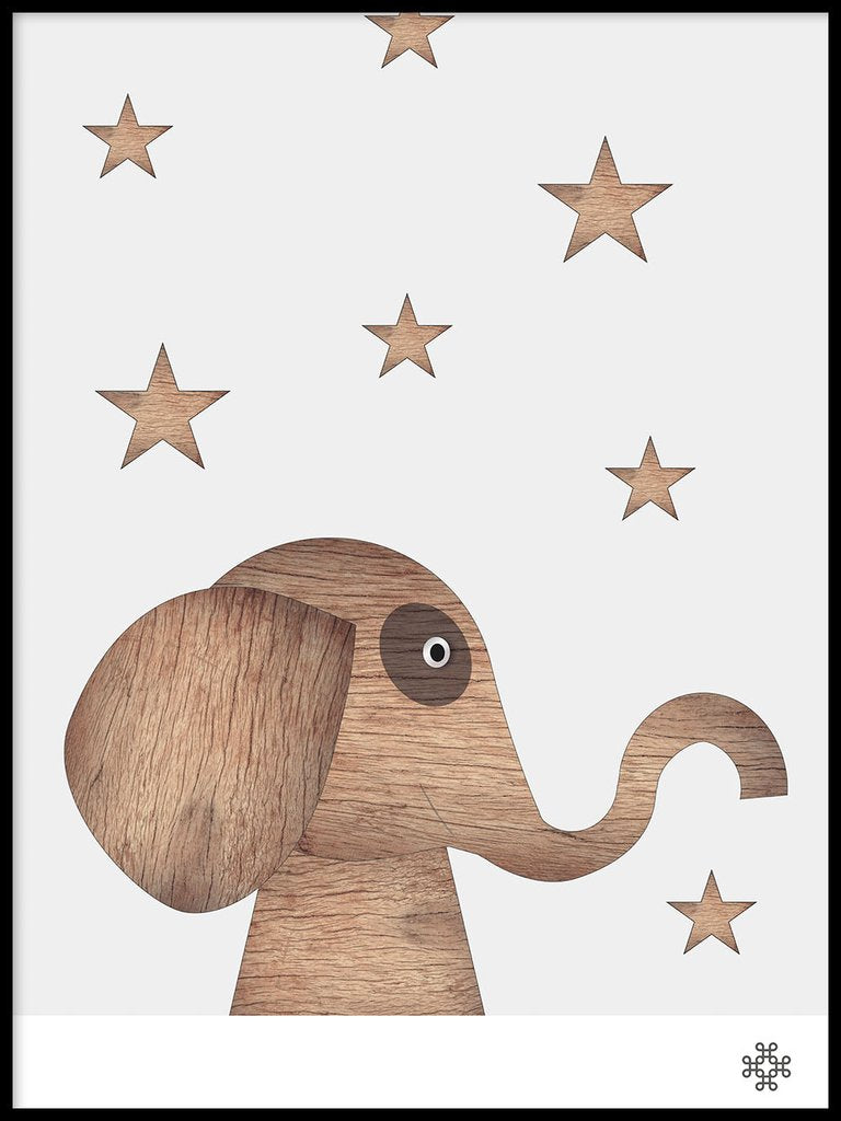 Wood Elephant light