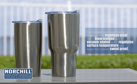 Double Wall Stainless Steel Tumbler - 30 Oz - NorChill® Coolers & Drinkware