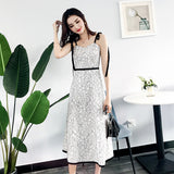 New summer sexy lace mid-length dress-22926