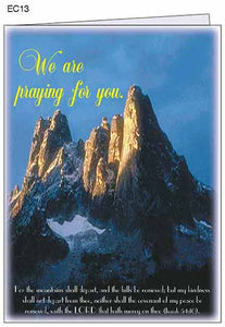 """We are praying for you."" Greeting Card with envelope"
