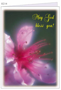 """May God Bless You!"" CHRISTIAN GREETING CARD with envelope"