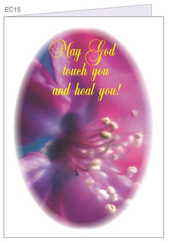 May God Touch and Heal You.  Christian greeting cards