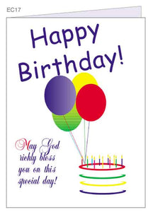 """Happy Birthday!"" Christian Greeting Card"