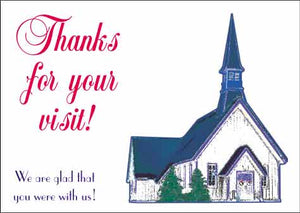 """Thanks for Your Visit"" Christian Postcards"
