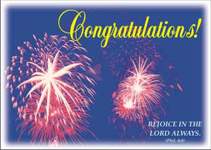"CHRISTIAN POSTCARDS ""CONGRATULATIONS"""