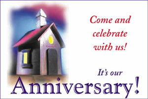 """Come and Celebrate with Us"" Anniversary postcards"