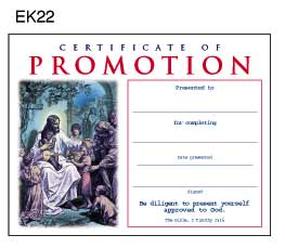 Certificate of Promotion - Youth Sunday School