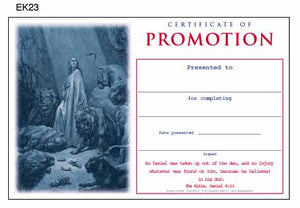 """Promotion"" Youth Sunday School Certificates (large)"