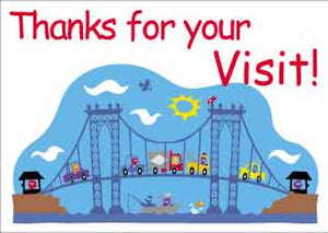 """Thanks for the Visit"" Christian Youth Postcards"