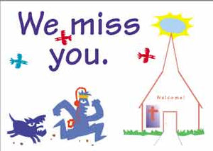"""We Miss You""  postcards"