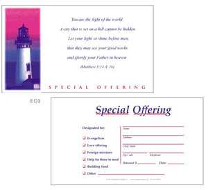 "Church Offering Envelopes ""Special Offering"""