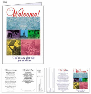 """Welcome Visitors - Elegant"" Welcome Cards"