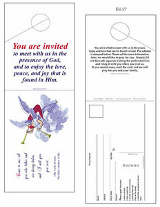 """You are Invited!"" church outreach Door Hangers"