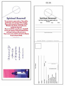 """Spiritual Renewal"" Church Outreach Door Hangers"