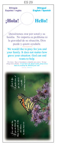 """We Want to Pray"" Door Hangers Bilingual SPANISH/ENGLISH"