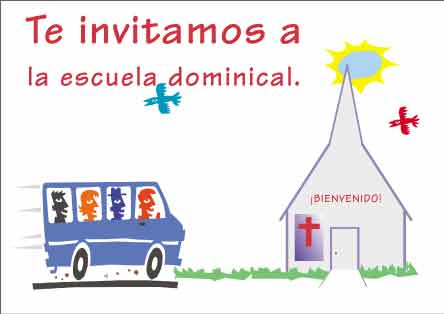 Te Invitamos a Escuela Dominical