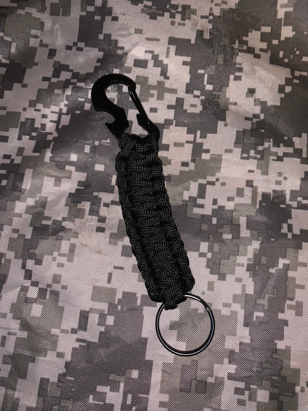 Keychain Ring Paracord Cord Rope Black