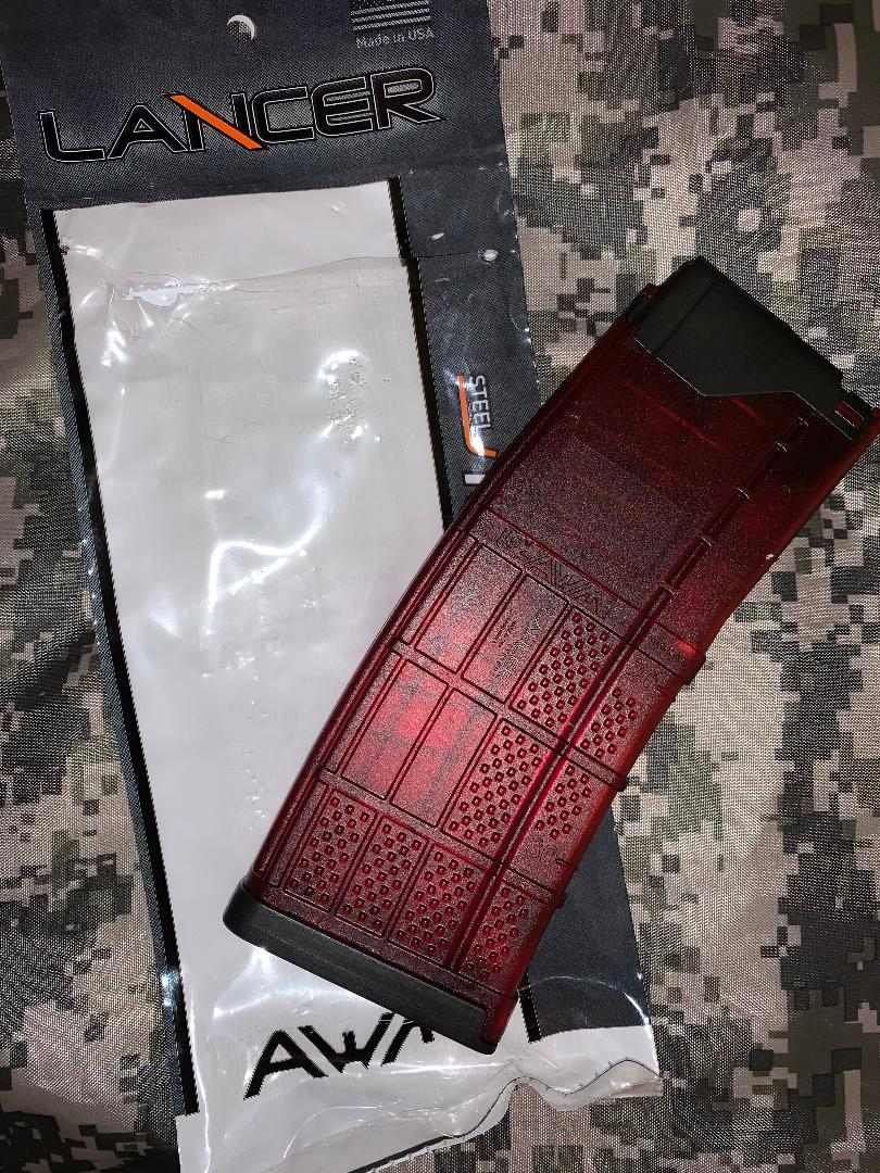 10/30 Lancer 223/556 RED Clear Magazine