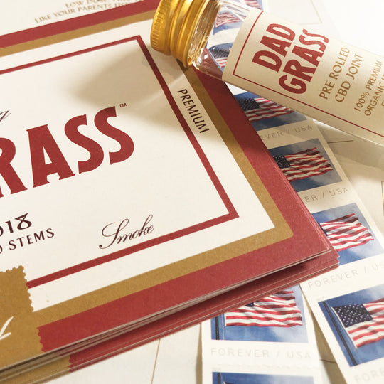 Introducing the Dad Grass Postcard & Stamp Set