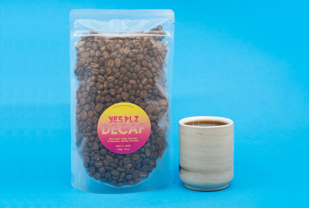 Decaf coffee beans by YES Plz