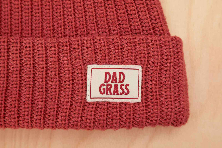 Dad Grass Red Beanie Knit Cap Merch