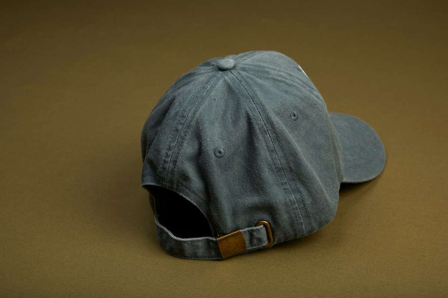 Dad Grass x Mark McNairy Washed Dad Hat - Blue Grey