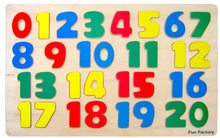 Wooden Number puzzle 0 to 20
