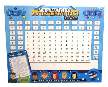 Magnetic word making board. phonics preschool primary stage 1