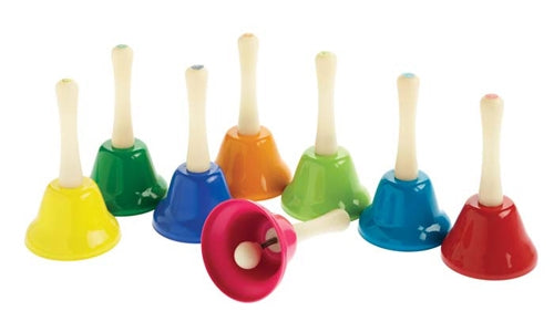 Rainbow Musical Bells play different notes
