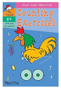 Counting exercise work book age 5+ primary school math exercises