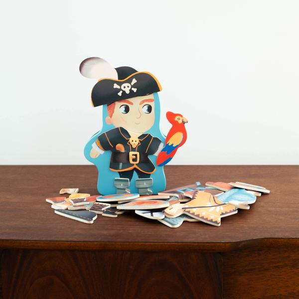 Pirate Magnetic Tin character building